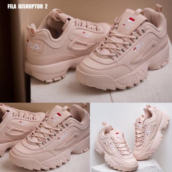Fila Shoes   Pink Fila Disruptor 2